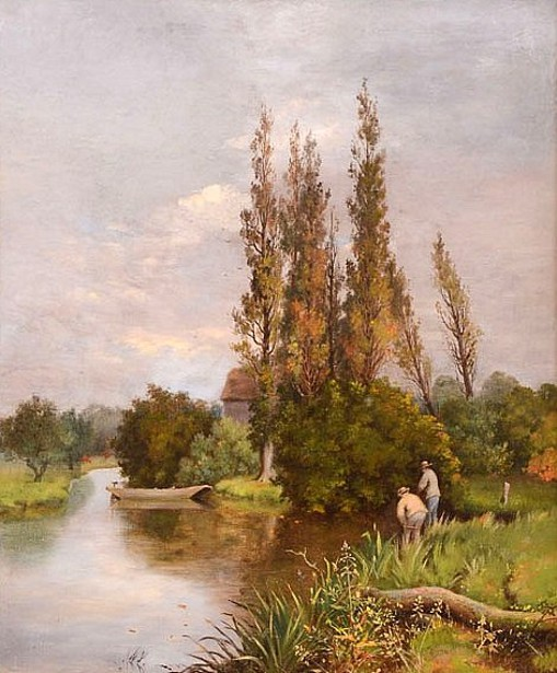 Fishing On A Stream - Summer Fishing