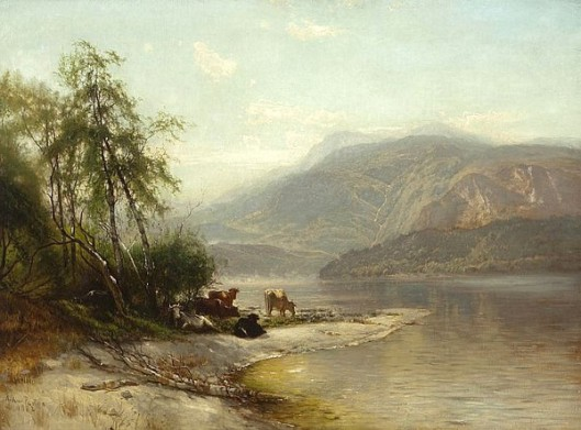 Hudson River Landscape With Cows