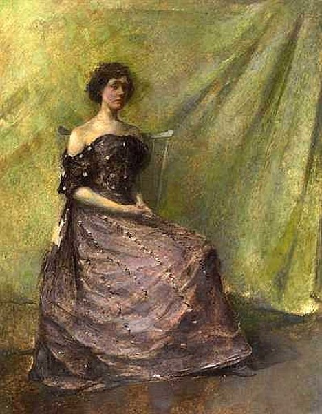 Lady In A Purple Dress