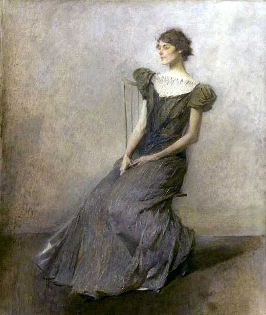 Lady In Green And Grey