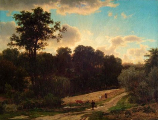 Landscape Of Wheat Harvest