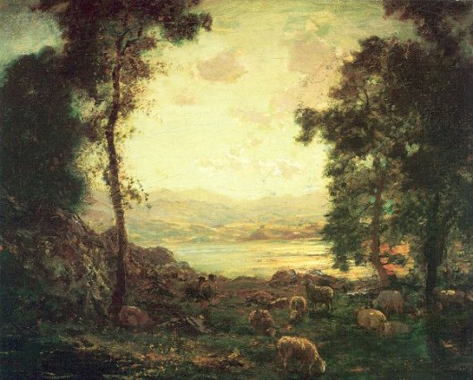 Landscape With Sheep Grazing