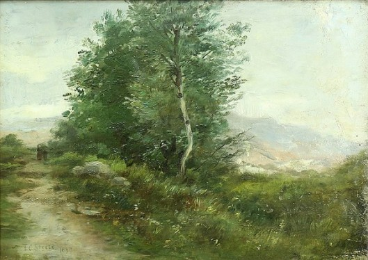 Landscape With Travelers Along The Path