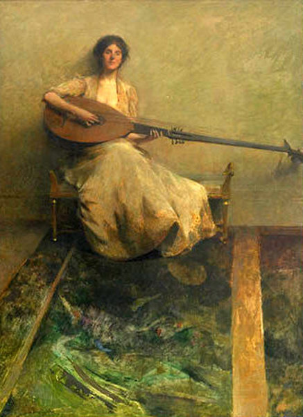 Lute Player - Girl With Lute