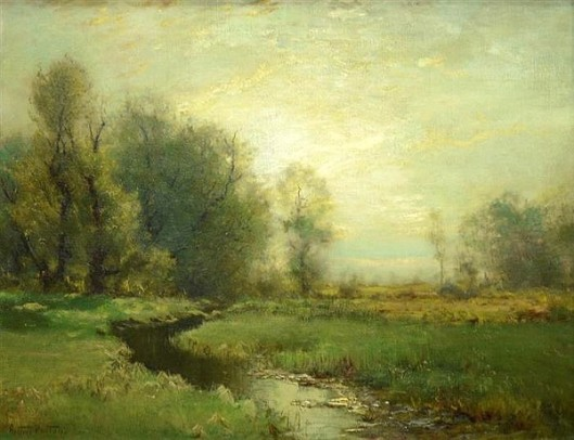 Stream In A Meadow