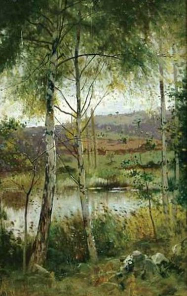 Summer Landscape With Lily Pond
