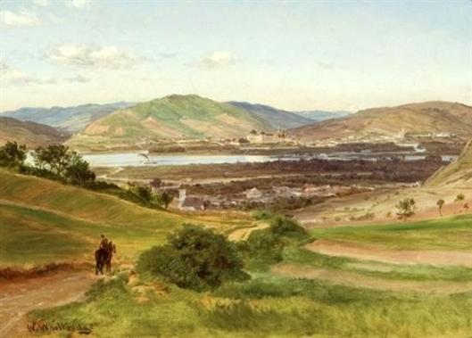 View Of The Rhine Near Dusseldorf