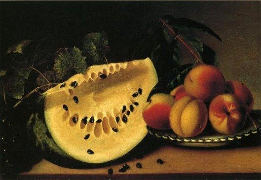 Watermelon And Peaches