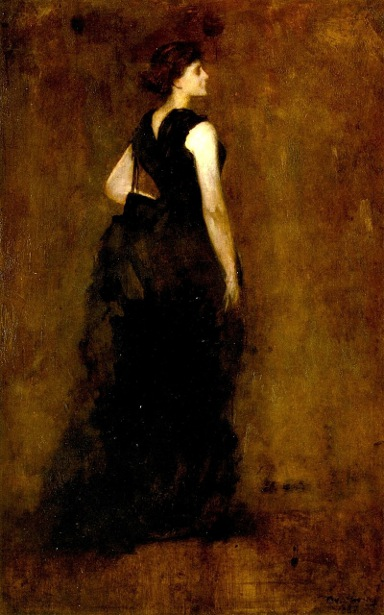 Woman In Black - Maria Oakey Dewing