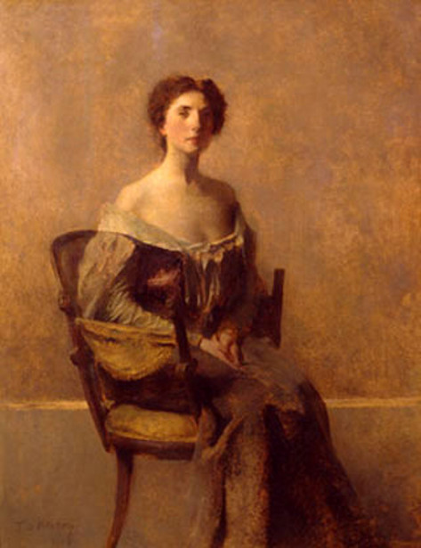Woman In Purple And Green