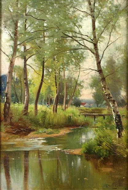 Wooded River Landscape