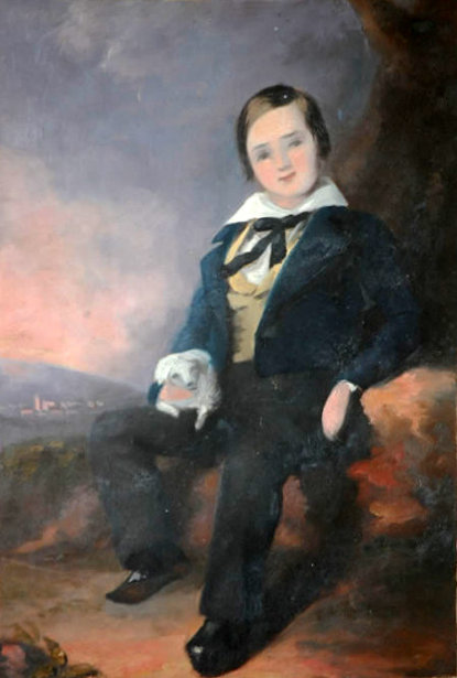 Young Man In Black Clothing