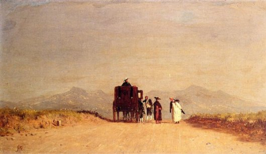 A Journey's Pause In The Roman Campagna