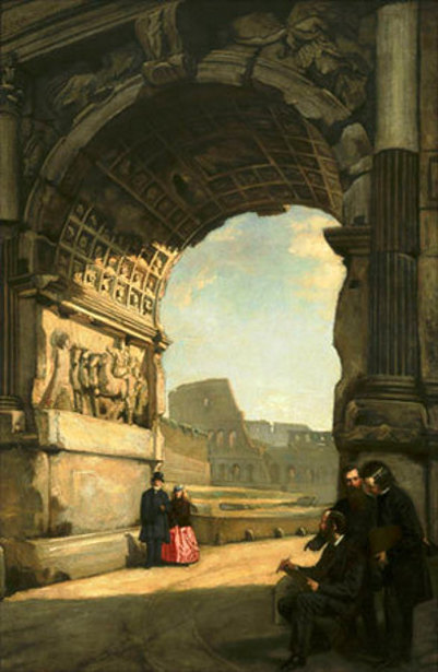 Arch of Titus, Rome (with Frederic E. Church and George P.A. Healy)