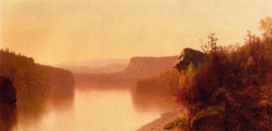 Autumn Lake Scene