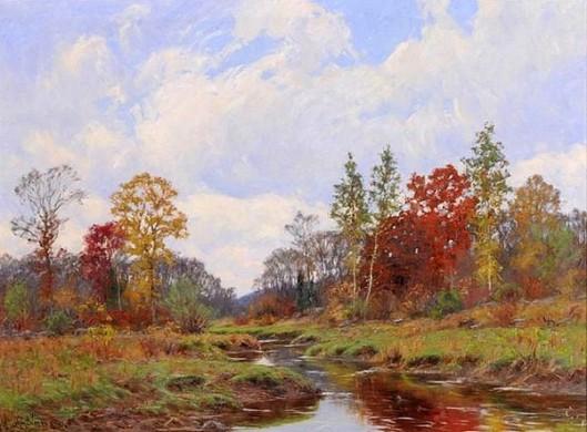 Autumn Landscape With Brook