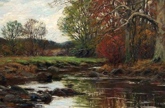Autumn - Pasture, Stream And Trees