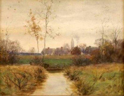 Autumnal Village Landscape