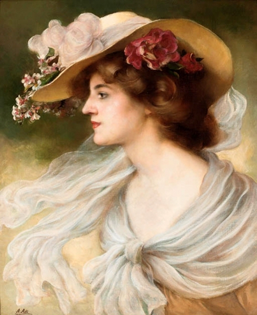 Elegant Lady In A Hat