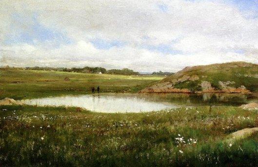 Freshwater Pond In Summer, Rhode Island
