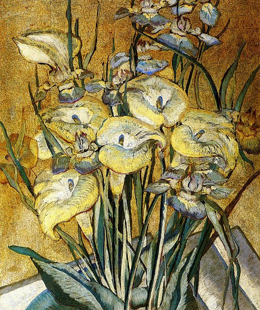 Irises And Calla Lilies