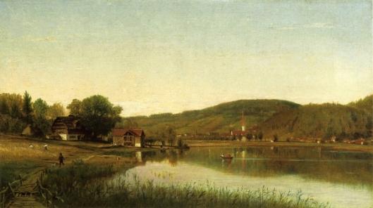 Lake Village - Swiss Scene