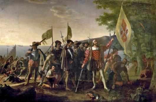 Landing Of Columbus At Guanahani