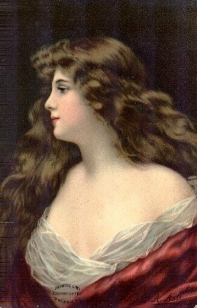 Long Haired Lady In Red
