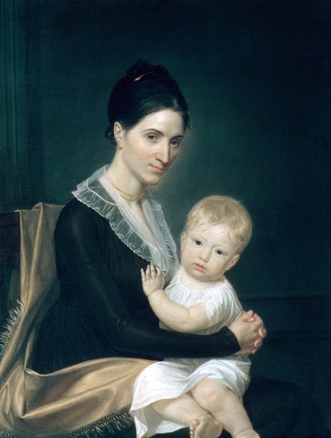 Mrs. Marinus Willett And Her Son Marinus jr.