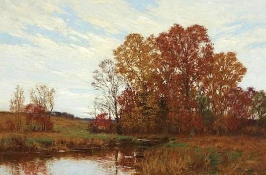 River In Autumn Landscape