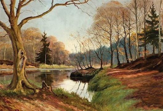 River Landscape In Autumn