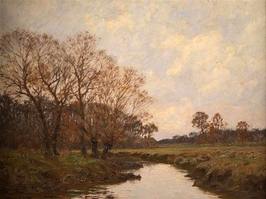 Rustic Landscape With Distant Farmhouse