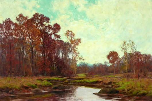 Stream In Autumn Landscape