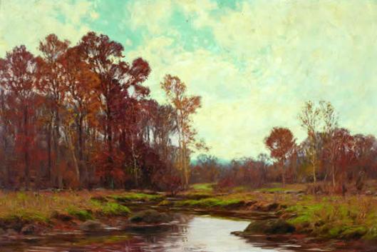 Stream In Autumn Landscape