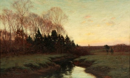 Sunrise - Spring Landscape With Stream