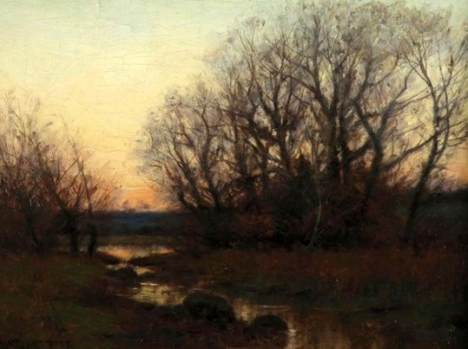 Twilight Landscape With Stream