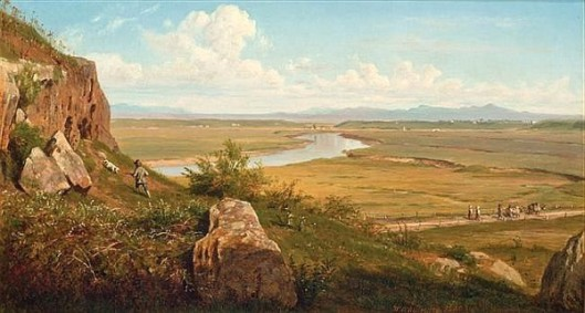 A Hunter In A Landscape - Extensive Vista With Figures