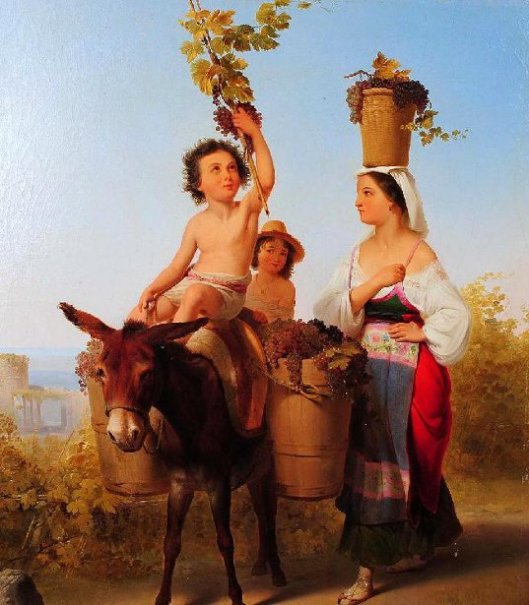Bacchic Scene - Transporting Grapes - Harvest Time In Italy
