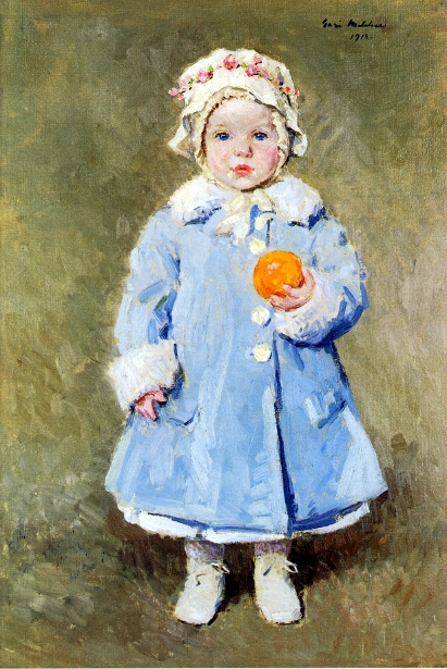 Child With An Orange