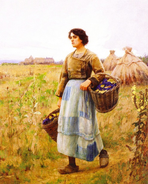 Girl With Grape Baskets