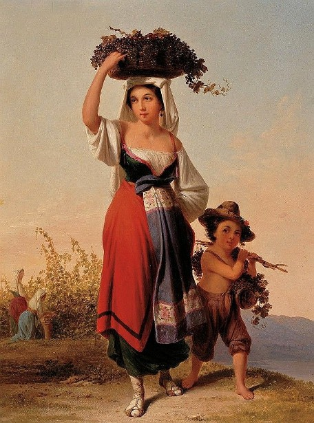 Grape Harvesters On The Roman Campagna