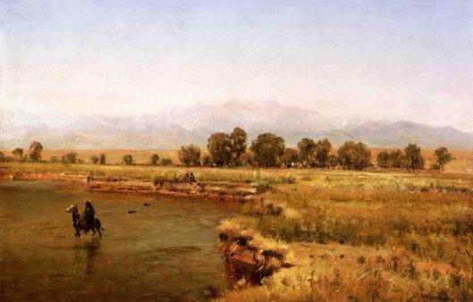 Indian Encampment On The Platte River, Colorado