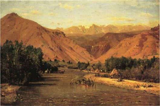 Indian Encampment On The Platte