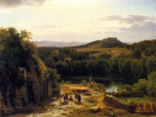 Landscape In The Harz Mountains