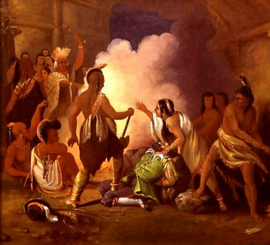 Pocahontas Saving The Life Of Captain John Smith