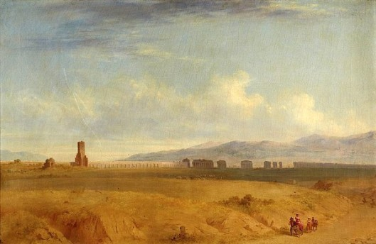 Ruins Of An Aqueduct In An Italianate Landscape