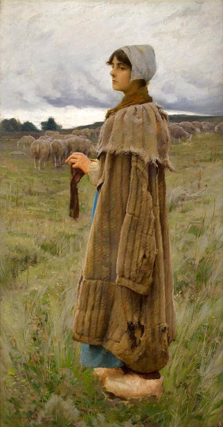 Shepherdess In The Fields