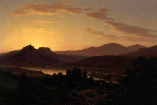 Sunrise - View Of Drachenfels From Rolandseck
