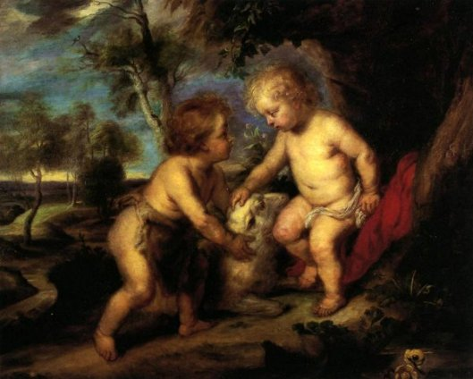 The Christ Child And The Infant St. John (after Rubens)