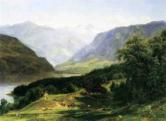 Travelers In The Swiss Alps